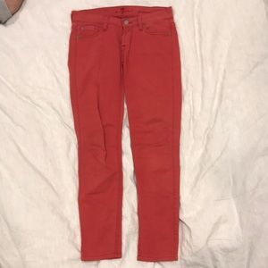 7 For All Mankind Red pants